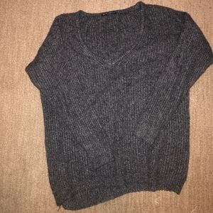 Oversized grey Brandy Melville  sweater